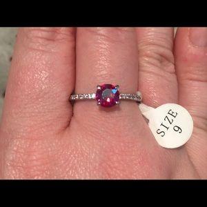 {Fragrant Jewels} Starburst Ruby & CZ Ring